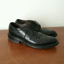 Vintage Dexter Leather Wingtip Brogues Oxford Shoes Men's 7.5 D Black USA Made - $67.72