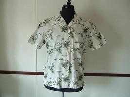 Men's Blassport by Bill Blass Hawaiian Flower Print Button Up Shirt Large - $14.49