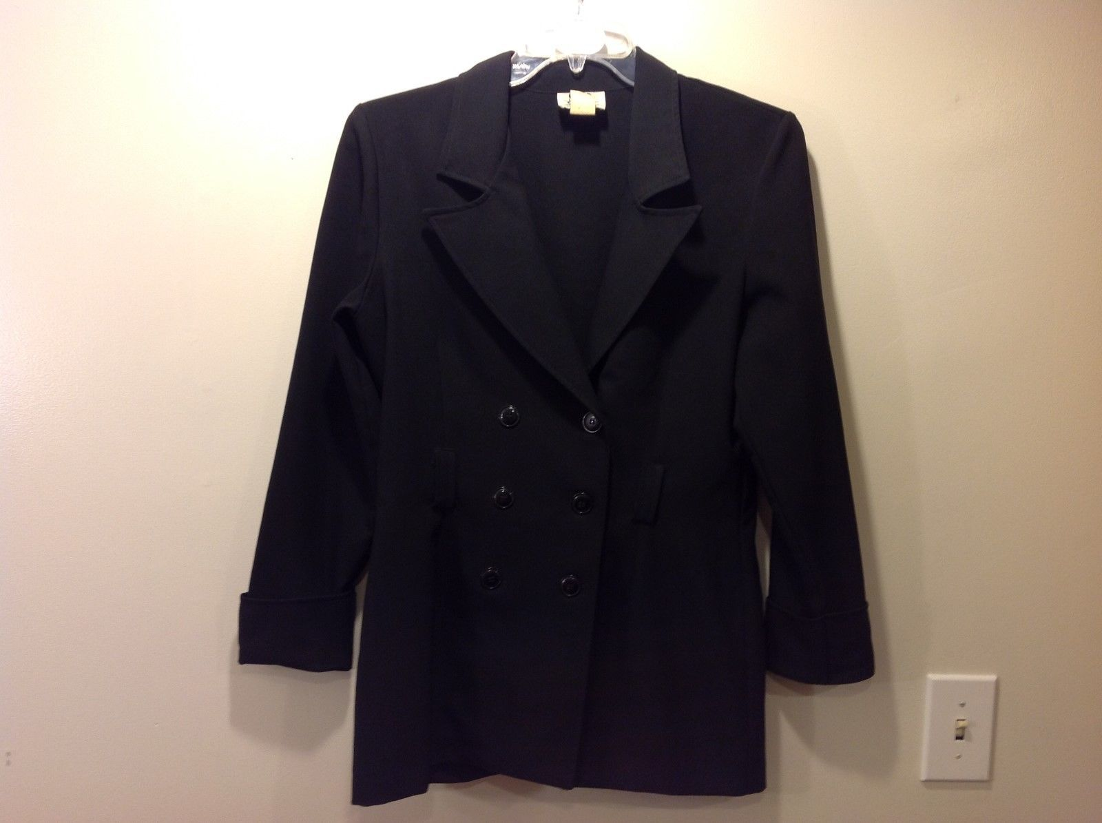STAR City Clothing Co Simple Black Jacket Size Medium