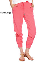 NWT $118 Splendid Coral Pink Athletic Woven Pan... - $34.99