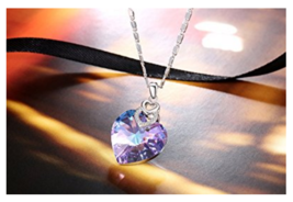 PLATO H Brave Heart Pendant Necklace with Swarovski Crystal Christmas Gi... - $40.00
