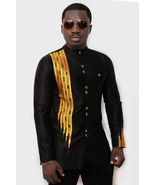 Black and Gold Men's African Fashion Wear African Clothing Men's Wear  - $58.99