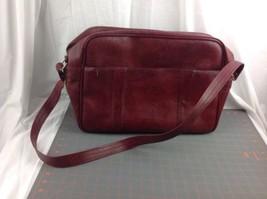 Vintage TROJAN Red Faux Leather Carry On Shoulder OverNight Messenger Vi... - $29.95