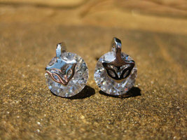Lucky spell Kitsune fox earrings wealth and success choose SILVER or ROSE GOLD - $20.00