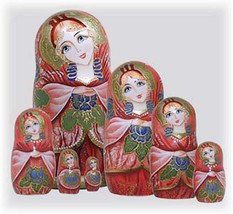 """Russian Beauty Nesting Doll - 8"""" w/ 7 Pieces - $119.00"""