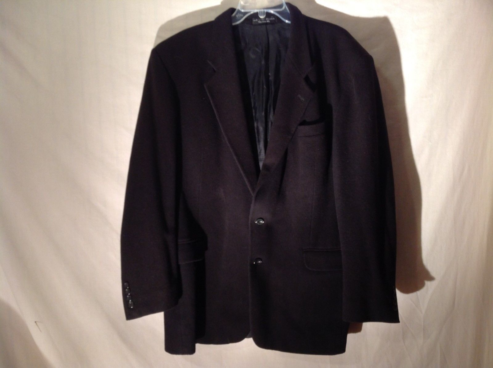 Gianfranco Ruffin Italian Cashmere Blend coat black
