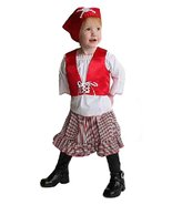Mullins Square Girl Pirate Baby Costume, Red/Blue - 6-18 Months - $17.29