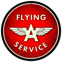 "Flying A Service 14"" Round Metal Sign - $29.95"