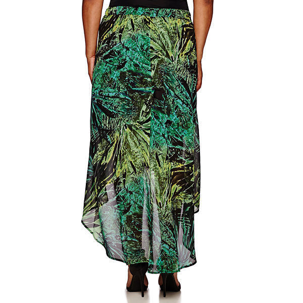 a.n.a Cross-Front Maxi Skirt Plus Size 2X, 3X New Amazon Jungle Msrp $40.00