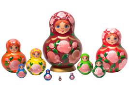 "Happy Maidens Nesting Doll - 5"" w/ 10 Pieces - $54.00"