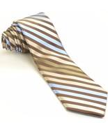 NEW TED BAKER 59L Espresso Brown Blue Striped Silk Mens Neck Tie - $89.10