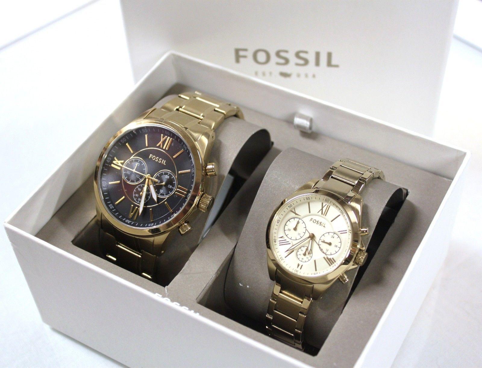 New Fossil Bq2145 2pcs Couple Set Men And 50 Similar Items Watch Modern Pursuit 57
