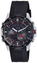 Casio Men's Edifice ERA200B-1AV Black Rubber Quartz Watch with Black Dial - $387.03