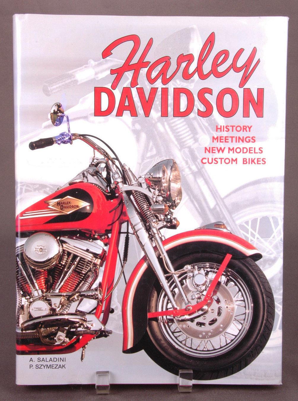 Harley Davidson Hardcover Book-Saladini Szymezak-History Meetings-Motorcycle-Vtg