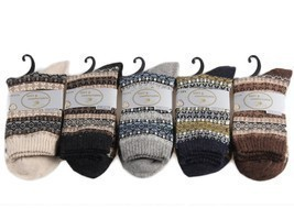 Lian LifeStyle Women's 5 Pairs Pack Wool Soft Folk Design Fashion Socks ... - €14,05 EUR
