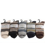 Lian LifeStyle Women's 5 Pairs Pack Wool Soft Folk Design Fashion Socks ... - $20.81 CAD