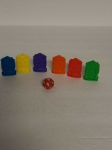 Chatter Matters Family Board Game Replacement Parts- 6 House Movers & Di... - $6.75