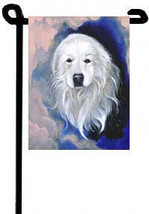 "Great Pyrenees (Portrait) - 11""x15"" 2-Sided Garden Banner - $18.00"