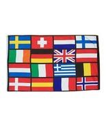 16 European Nations - 3'X5' Polyester Flag - $15.60