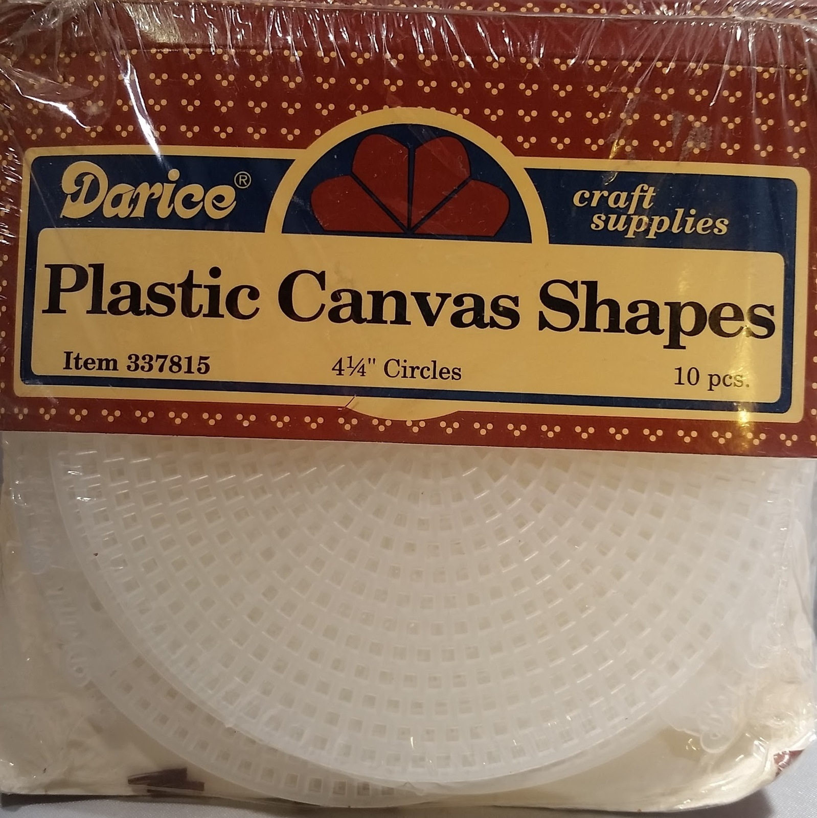 "Darice 337815 Plastic Canvas Shapes 7 Count 4.25/"" 8//Pkg-Circles Clear"