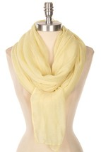 Super Soft Yellow Pastel Layering Scarf, Super Soft Scarf, Chic Fashion Scarves