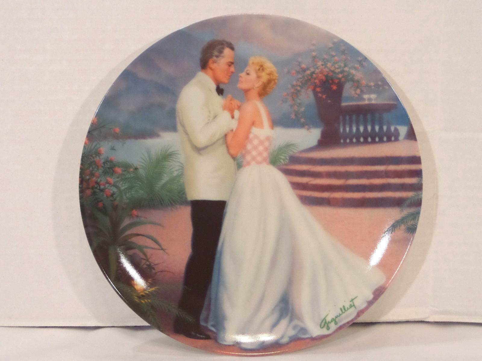 South Pacific Collector Plate 1987 Knowles COA - 1st - Some Enchanted Evening  !