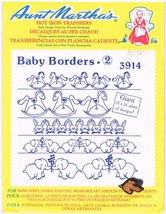 Vintage Aunt Martha's Hot Iron Transfers 3914 Baby Borders - $4.99