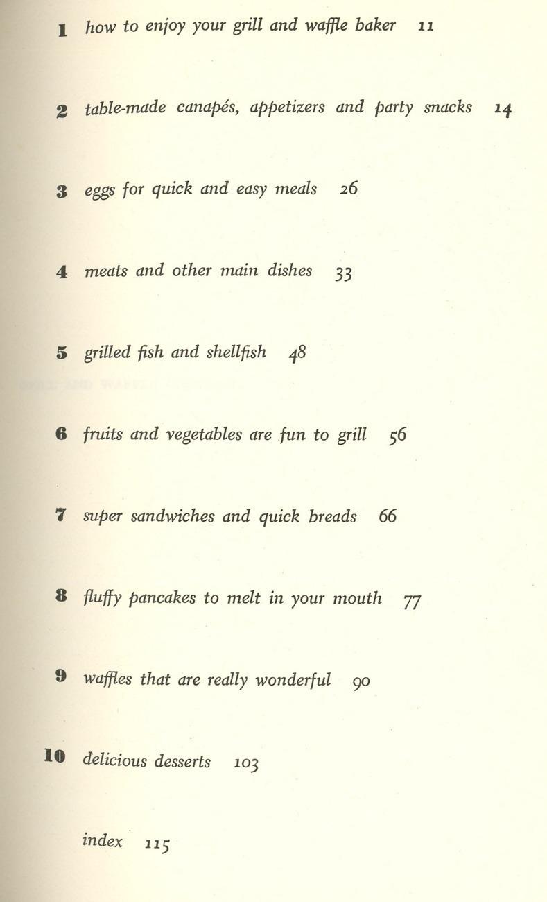 Grill & Waffle cookbook Hovey Chidekel vintage 1965