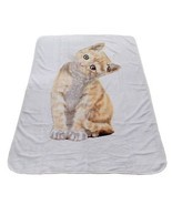 LUXURY SUPERSOFT CAT KITTEN SHERPA FLEECE THROW BLANKET 150 X 200CM - 1.... - $34.83 CAD