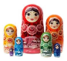 """Rainbow Nesting Doll - 8"""" w/ 7 Pieces - $66.00"""