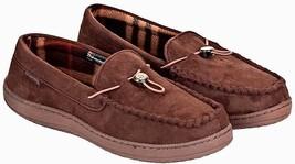 Weatherproof Men's Faux Moccasin In OutDoor Slippers Brown  Sz-S 7-8 - $22.76