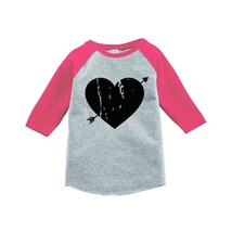Custom Party Shop Kids Heart Happy Valentine's Day 3T Pink Raglan - $20.58