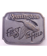 Vtg Remington Pewter Belt Buckle-First in the Field-Canada Goose-1980-Ma... - $18.68