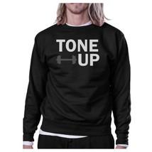 Tone Up Black Sweatshirt Work Out Pullover Fleece Sweatshirts - $20.99+