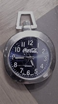 Vintage Coca Cola Small Pocket Watch Quartz Black Dial - $17.95