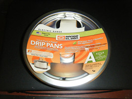 Pack of 2 Range Kleen Style A Brushed Chrome Electric Range Drip Pans - NEW - $17.80