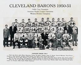 50 - 51 AHL Calder Cup Champion Cleveland Barons Team Black White 8 X 10 Photo - $5.99