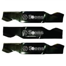 """3 Blade Set (1) 742-3015 (2) 742-3016 46"""" Lawn Mower Deck - $44.05"""