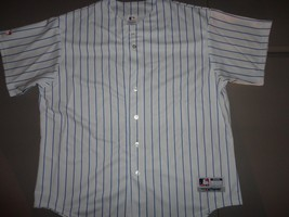 Authentic Majestic BLANK (no team OR player patches) Cubs MLB Striped Je... - $64.23