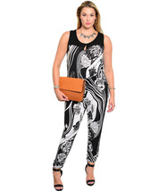 Size 3XL Womens Jumpsuit JANETTE PLUS Black Whi... - $29.99