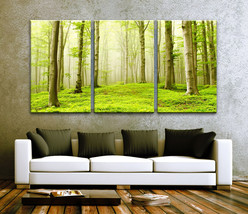 """LARGE 30""""x 60"""" 3 Panels Art Canvas Print Beautiful Nature Forest Scenery... - $116.00"""