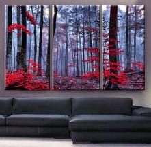 "Large 30x60 3 Panels framed 1.5"" depth Art Canvas Print  Forest trees au... - $116.00"