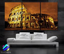 "LARGE 30""x 60"" 3 Panels Art Canvas Print Beautiful Roman Colosseum Colis... - $116.00"