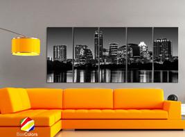 "XLARGE 30""x 70"" 5 Panels Art Canvas Print beautiful Austin tx Skyline ni... - $139.00"