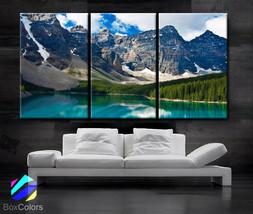 """LARGE 30""""x 60"""" 3 Panels Art Canvas Print beautiful Rocky Mountain Nature... - $116.00"""