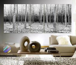 "XLARGE 30""x 70"" 5 Panels Art Canvas Print Trees Forest Landscapes Nature... - $139.00"