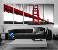 "XLARGE 30""x 70"" 5Panels Art Canvas Print Golden Gate Bridge San Francisc... - $139.00"