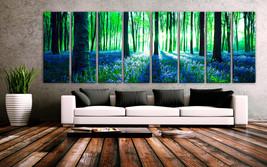 "XXLARGE 30""x 96"" 8 Panels Art Canvas Print beautiful Nature Sunset Fores... - $229.00"