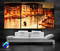 "LARGE 30""x 60"" 3 Panels Art Canvas Print beautiful Romantic Venice City ... - $116.00"