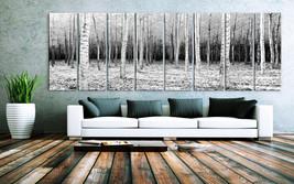 "XXLARGE 30""x 96"" 8 Panels Art Canvas Print beautiful Trees Forest Landsc... - $229.00"